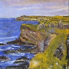Cliffs at Dunluce Castle by Les Sharpe