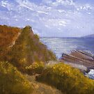 Along the cliffs, Agios Stefanos, Corfu by Les Sharpe
