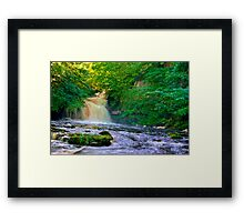 West Burton Falls Framed Print