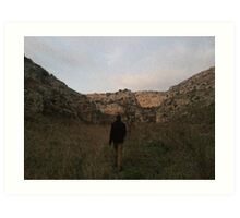Wondering Through The Sassi Valley - Matera, Italy Art Print