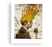 The Flaming Crooner Canvas Print