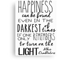 Turn On The Light Canvas Print
