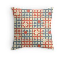 Dots and Squares Throw Pillow