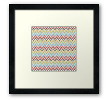 Multicolor Colorfull Zigzag Chevron Framed Print