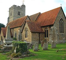 St Mary and All Saints, Boxley from South East by Dave Godden