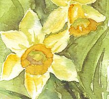 Golden Daffodils  by Maree  Clarkson