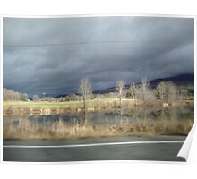 A stormy day in Vermont Poster