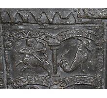 Sagittarius, Lead Font Design, 1150 Photographic Print
