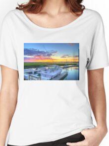 Marlin Quay_Sunset_1 Women's Relaxed Fit T-Shirt