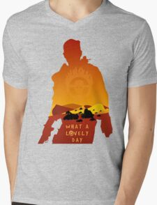Mad Max Minimalist Mens V-Neck T-Shirt