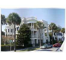 Mansions on Battery St.,Charleston Poster