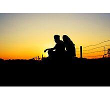 romantic silhoutte Photographic Print