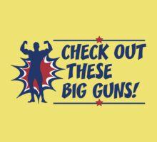 Body Builder Big Guns Fun Gym Lover Quote One Piece - Short Sleeve