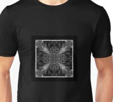black and white chair fractal art pattern Unisex T-Shirt