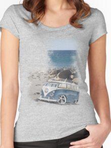 Splitty Beach Women's Fitted Scoop T-Shirt