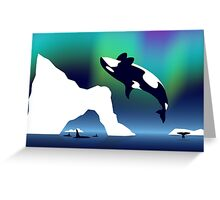 Paper Craft Orca Greeting Card