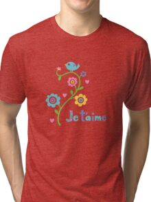 je t'aime - i love you - lights Tri-blend T-Shirt