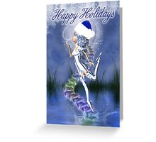 Christmas Card With Cute Elf Greeting Card