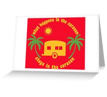 Funny Caravan Camping Trailer Park Joke Greeting Card