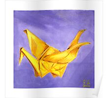 Yellow Paper Crane Poster