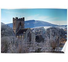 St. Flannan's Cathedral in winter, Killaloe, Ireland Poster