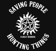 Saving People Hunting Things Kids Tee