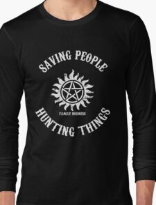 Saving People Hunting Things Long Sleeve T-Shirt