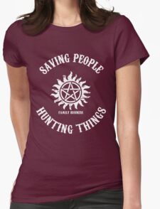 Saving People Hunting Things Womens Fitted T-Shirt