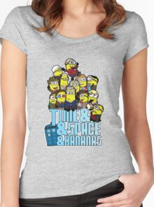 Time and Space and Bananas Women's Fitted Scoop T-Shirt