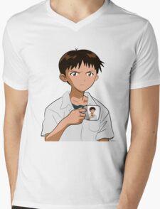 Shinjiception Mens V-Neck T-Shirt