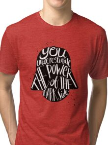 you under estimate the power typography  Tri-blend T-Shirt