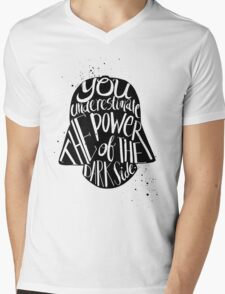 you under estimate the power typography  Mens V-Neck T-Shirt