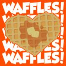 I Love Waffles 2 by DetourShirts