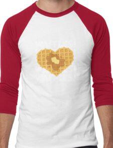I Love Waffles 2 Men's Baseball ¾ T-Shirt