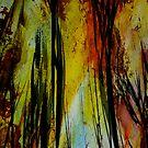 burning... tall spirit trees by banrai