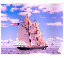 Schooner Virginia Under Sail Poster