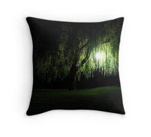 Night Willow Throw Pillow