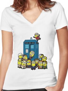 Minion Who Women's Fitted V-Neck T-Shirt