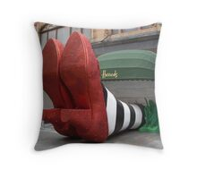 Clean pair of heels - Harrods, London Throw Pillow