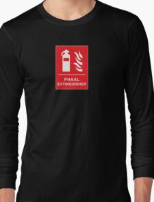 Funny Hot Spicy Curry Phaal Fire Extinguisher Joke Long Sleeve T-Shirt