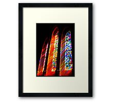 Jeweled Rays Framed Print