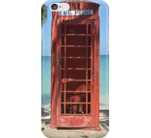 Caribbean telephone box iPhone Case/Skin