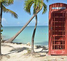 Caribbean telephone box by Amy McCabe