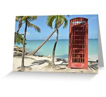 Caribbean telephone box Greeting Card