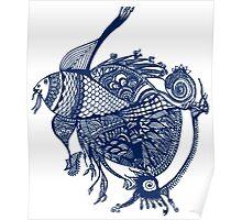 Indigo Fish Poster