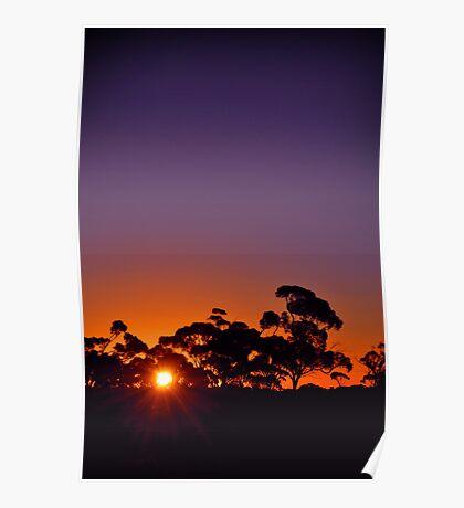 Kalgoorlie Sunset Poster