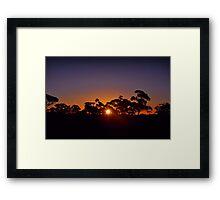 Kalgoorlie landscape sunset Framed Print