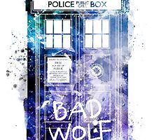 Doctor Who Tardis Bad Wolf Watercolor by ploveprints