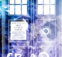 Doctor Who Tardis Bad Wolf Watercolor Sticker