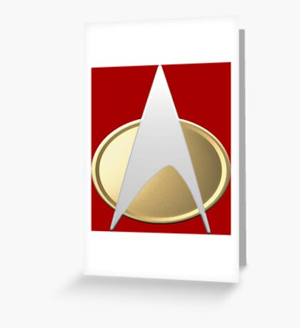 TNG Uniform Badge Greeting Card